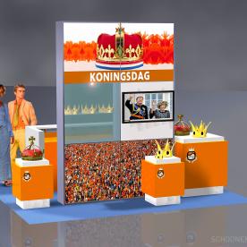 RentDesignstand LED - Koningsdag