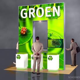 RentDesignstand LED - Groen