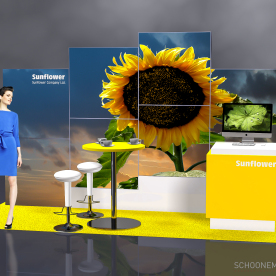 RentDesignstand LED - Sunflower