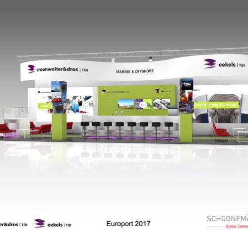 Croonwolters & Dros – Opbouw stand op de Europort 2017