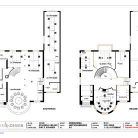 Villa Aemstelle - plattegrond - Schooneman Design